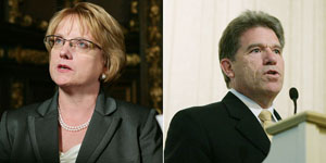 MN Supreme Court Chief Justice Lorie Gildea and Secretary of State Mark Ritchie