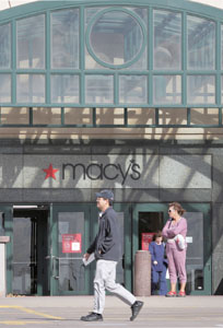 The Macy's department store at Rosedale Center is centerstage in a tax dispute between its owner and Ramsey County. (Staff photo: Bill Klotz)