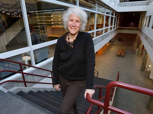 """Kate Kruse, associate dean of experiential education at Hamline, touts the school's efforts to prepare graduates for the real world. """"The idea that lawyers are solving problems is really just built into the DNA of the school in many ways,"""" she said. (Staff photo: Bill Klotz)"""