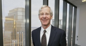 """Jim Patterson, founding partner of Patterson Thuente Pedersen, says it's important for intellectual property attorneys to have a thorough understanding of a client's business. """"You talk to everybody in the company, from the guy on the bench to the CEO. Every company is designing things all the time."""" (Staff photo: Bill Klotz)"""