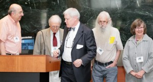Four of Minnesota's Freedom Riders. (From left) Peter Ackerberg, Robert Baum, Magistrate Judge Franklin Noel, who introduced them, David Morton and Claire O'Connor. (submitted photo).