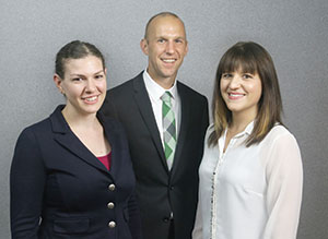 Natalie Brauer, Jason Kruger, and Lacy Lukaszewicz