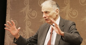 Ralph Nader was speaking to the Foley Mansfield law firm at the Depot Renaissance Hotel in Minneapolis. (submitted photo)