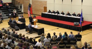 More than 1,000 students attended an oral argument at the Worthington High School. (Submitted photo)