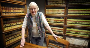Connie Achterberg, photographed in her Salina, Kansas, law office, has been practicing law for more than 60 years. (AP PHOTO: Salina Journal)