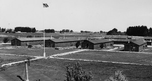 Housing in a Japanese relocation camp. (Photo source: Franklin D. Roosevelt Library Public Domain Photographs_