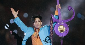 Prince performed during halftime of the Super Bowl on Feb. 4, 2007, in Miami. On Tuesday, the House Civil Law and Data Practices Committee approved a bill aimed at ensuring that the late musician's personality rights can be transferred to his heirs. But the measure got a much tougher reception the next evening in the Senate Judiciary Committee. (AP file photo)