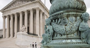 The Supreme Court is shown Tuesday in Washington as the justices ruled unanimously that a Minnesota company could file a lawsuit against the U.S. Army Corps of Engineers over the agency's determination that its land is off limits to peat mining under the Clean Water Act. (AP Photo: J. Scott Applewhite)