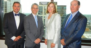 Among the lawyers staffing Jones Day's new Minneapolis office are, from the left: Peter Ekberg, Brian West Easley, Annamarie Daley and Roy A. Ginsburg (Submitted photo)