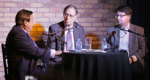 """In January, Ron Rosenbaum, center, moderated a discussion at a Minneapolis brew pub with Joe Friedberg and Dean Strang, the Wisconsin defense attorney from """"Making a Murderer,"""" the Netflix documentary about an apparent case of justice gone wrong. (File photo: Bill Klotz)"""