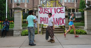 After Philando Castile's death, protesters gathered at the governor's mansion Thursday. (Staff photo: Bill Klotz)