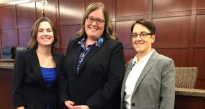 Robins Kaplan attorneys Chandra Kilgriff, left, Katherine Barrett Wiik and Lisa Beane worked to make Robins nationally recognized as the nation's most inclusive firm for LGBT lawyers. (Submitted photo)