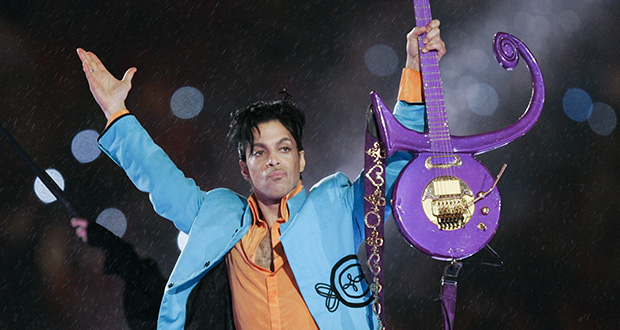 Prince performs during the halftime show of the Super Bowl XLI football game Feb. 4, 2007, at Dolphin Stadium in Miami. (AP file photo)