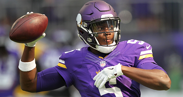 Minnesota Vikings quarterback Teddy Bridgewater warms up before a preseason game against the San Diego Chargers on Aug. 28 in Minneapolis. His season-ending injury during practice raises a question for solo attorneys: What would happen to your clients if you were suddenly incapacitated? (AP photo: Andy Clayton-King)