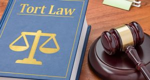 Law book with a gavel - Tort law
