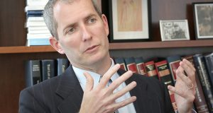 """""""We're thinking hard about the role that a law school can play, returning to the notion of the legal profession being a healing profession,"""" says Robert Vischer, dean of the University of St. Thomas School of Law. (File photo: Bill Klotz)"""