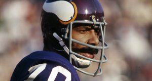 A federal judge approved a $42 million settlement of a class action lawsuit brought by a group of retired professional football players — including Vikings great Jim Marshall, pictured — over the use of their likenesses by the National Football League's NFL Films. (AP file photo)