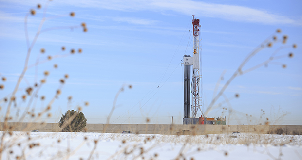 A federal judge in Wyoming ruled in June that federal rules setting standards for hydraulic fracturing in shale formations on federal land exceeded the authority of the Bureau of Land Management. The government appealed. Arguments are set for Jan. 17 in Denver. In this photo, a hydraulic fracturing rig is seen in Weld County, Colorado. (Bloomberg News photo)