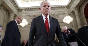 Attorney General-designate Jeff Sessions, a Republican senator from Alabama, takes his seat Jan. 10 on Capitol Hill in Washington after a break in his confirmation hearing before the Senate Judiciary Committee. (AP photo: Alex Brandon)
