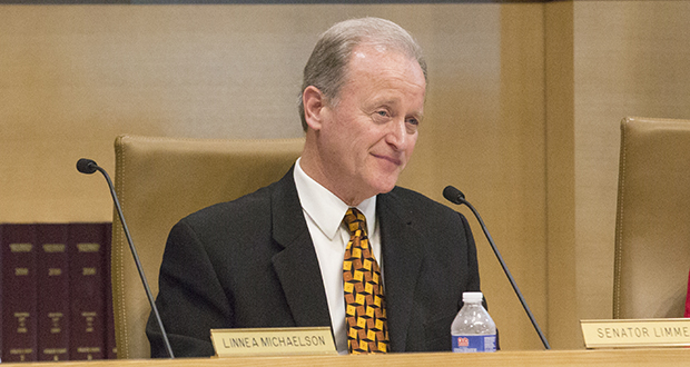 Sen. Warren Limmer, chair of the Senate Judiciary and Public Safety Finance and Policy Committee, wants to know more about why the Department of Corrections keeps asking for compensation-related deficiency budget requests. (Staff photo: Kevin Featherly)