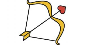 Cupid's bow and arrow icon