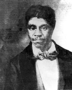 Shown is a copy of a photograph of Dred Scott that was found in the historic courthouse in Thebes, Illinois. Scott was the slave whose legal fight for freedom became a landmark U.S. court ruling. (AP file photo)