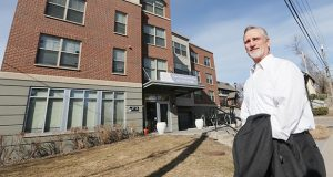 Alan Arthur is president and CEO of Aeon, a prolific developer of affordable housing such as this Ripley Garden Apartments building, 301 Penn Ave. N. in Minneapolis. Investors are paying less for Low-Income Housing Tax Credits, which is making it tougher to build new affordable units or renovate existing units, he said. (Staff photo: Bill Klotz)