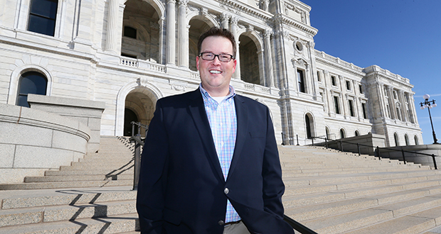 Dennis Olson Jr. became executive director of the Minnesota Indian Affairs Council in November. (Staff photo: Bill Klotz)