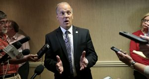 Wisconsin Attorney General Brad Schimel, shown in a July 2015 photo, filed a friend-of-the-court brief supporting Wisconsin Carry. (AP file photo: Wisconsin State Journal)