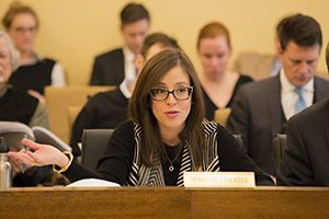 Sen. Melisa Franzen, DFL-Edina, said she was poised to vote for the Senate Real ID bill on March 6 until it became overly politicized on the Senate Floor. The bill was defeated 38-29. (Staff photo: Kevin Featherly)