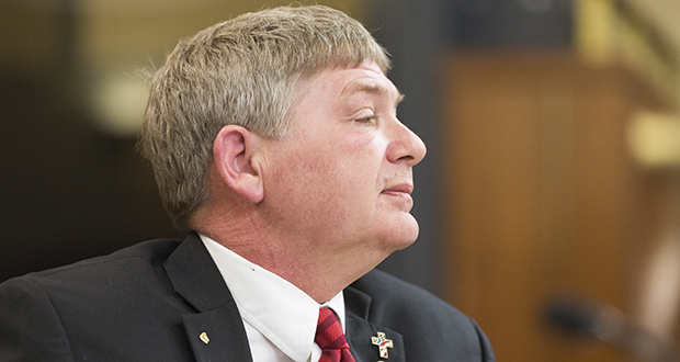 Rep. Brian Johnson, R-Cambridge, is author of a bill that would require the Minnesota Sentencing Guidelines Commission to seek legislative approval for any change it wants to make to the guidelines. His bill passed the Public Safety committee on Tuesday.  (Staff photo: Kevin Featherly)