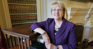 Minnesota Supreme Court Chief Justice Lorie Gildea says she is confident her full $51.4 million budget increase will be fulfilled before the legislative session concludes in late May. (Staff photo: Bill Klotz)