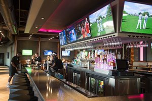 Amenities at the Topgolf in Oklahoma City include a restaurant, multiple lounges and bar areas.  (Photo: Brent Fuchs)