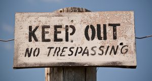 Keep Out - No Trespassing Sign