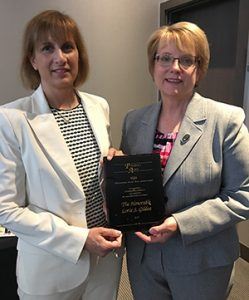 State Bar Association President Robin Wolpert gave the annual President's Award to Chief Justice Lorie Gildea. (Photo: Minnesota State Bar Association)