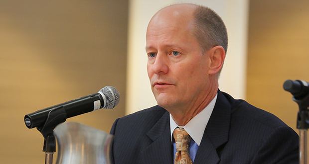 """Senate Majority Leader Paul Gazelka, R-Nisswa, says a meeting Tuesday between Gov. Mark Dayton and Republican leaders yielded no resolution in the dispute over Dayton's veto of funding for the Legislature. """"If we can still find a solution with the governor we will certainly do that—we would prefer that,"""" Gazelka said. But that cannot involve reopening negotiations on bills that the governor has already signed into law, he added. (File photo: Bill Klotz)"""
