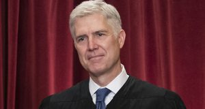 Supreme Court Associate Justice Neil Gorsuch is seen during an official group portrait at the Supreme Court Building Washington. (AP photo)