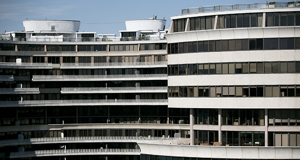 The Watergate complex stands in Washington, D.C., along the Potomac River. (Bloomberg file photo)