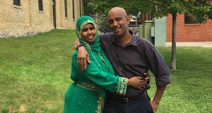 Abdisalam Wilwal and his wife, Sagal Abdigani, were detained with their children at the Canadian border in North Dakota for nearly 11 hours in March 2015. (Photo: American Civil Liberties Union)