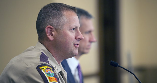 State Patrol Capt. Eric Roeske testifies before a Capitol security advisory committee on July 10. (Staff photo: Kevin Featherly)