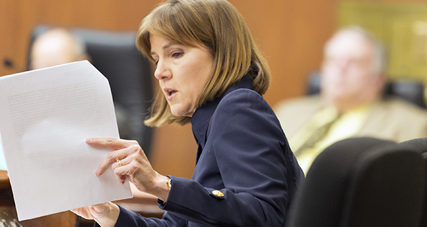 Attorney General Lori Swanson has charged three people with running bogus personal-care businesses and swiping nearly $1 million from taxpayers. (File photo: Kevin Featherly)