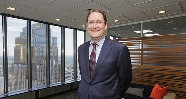 Kyle T. Peterson is a partner at Patterson Thuente specializing in patent and trademark law. (Staff photo: Bill Klotz)