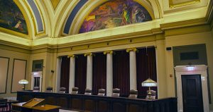Oral arguments on Gov. Mark Dayton's appeal are scheduled for Aug. 28 in the Supreme Court's Capitol courtroom. (Staff photo: Kevin Featherly)