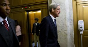 Robert Mueller, former director of the FBI and special counsel for the U.S. Department of Justice, leaves a meeting with members of the Senate Judiciary Committee on June 21 in Washington. (Bloomberg News file photo)