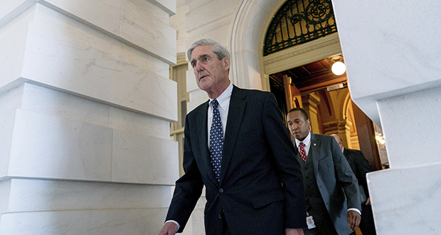 Former FBI Director Robert Mueller, the special counsel probing Russian interference in the 2016 election, departs Capitol Hill following a closed door meeting June 21 in Washington. (AP file photo)