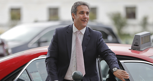 Michael Cohen, President Donald Trump's personal attorney, arrives on Capitol Hill in Washington on Tuesday. (AP photo)