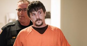Joseph Jakubowski is escorted into a room at the Rock County Courthouse for his preliminary hearing April 25 in Janesville, Wisconsin. (AP file photo)