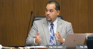 Rep. Eric Lucero, R-Dayton, is the author of a student-privacy bill, House File 1507, which  was the backdrop to the Sept. 22 Legislative Commission on Data Practices hearing. (Staff photo: Kevin Featherly)