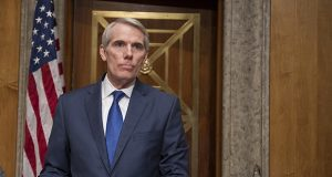 In this Jan. 10 photo, Sen. Rob Portman, R-Ohio, waits to open a subcommittee hearing into Backpage.com facilitation of online sex trafficking. (AP file photo)