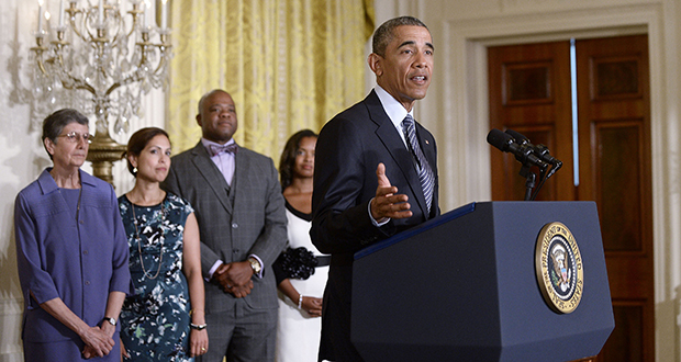 President Barack Obama spoke about the Clean Power Plan during an event Aug. 3, 2015, at the White House in Washington, D.C. (Bloomberg News file photo)